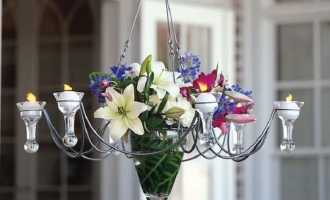 Recycling Old Chandeliers for Your Garden