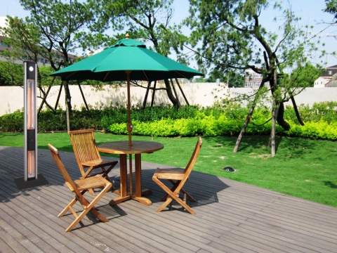 How to Design a Relaxation Space in the Back Garden with Patio Infrared Heaters Picture