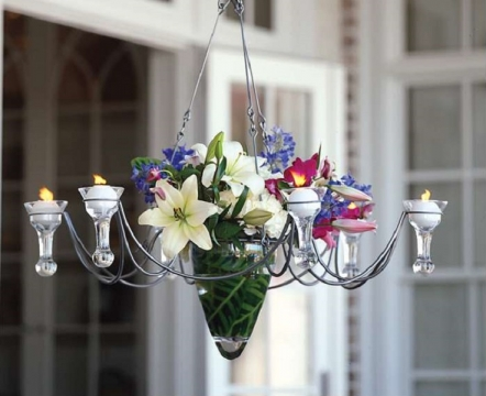 Recycling Old Chandeliers for Your Garden Picture